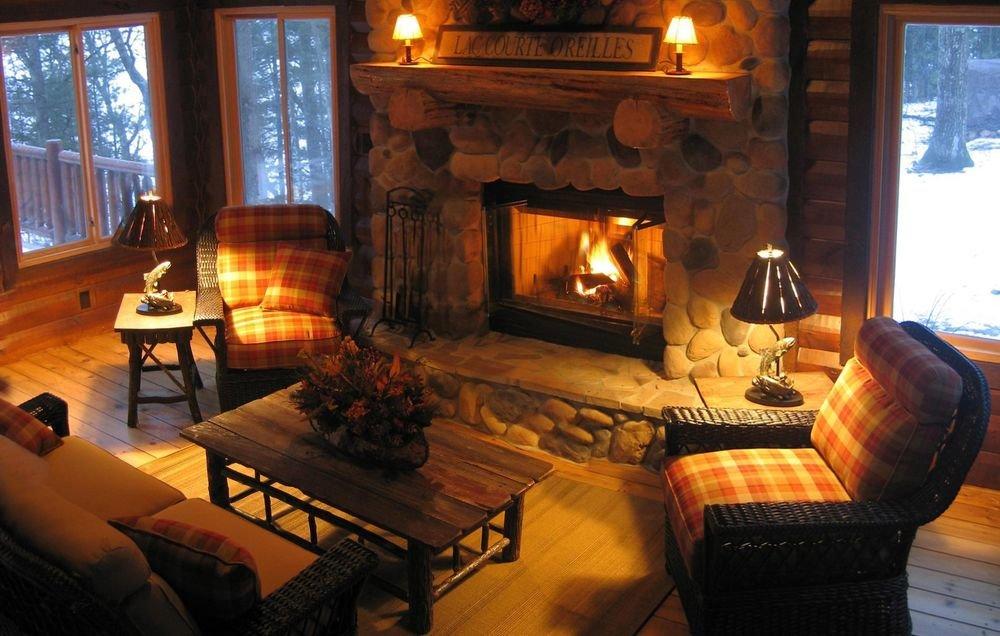 картинка уютного домика с камином этом
