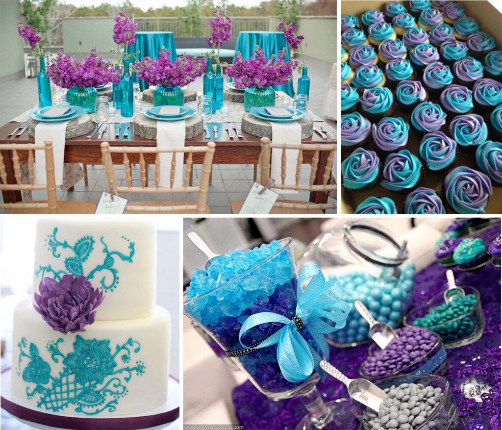 Purple Wedding Ideas Decorations Purple And Turquoise Wedding Theme