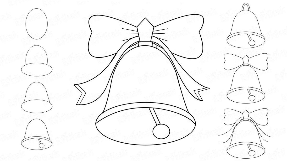 Красавицы, шаблоны колокольчика для вырезания из бумаги распечатать