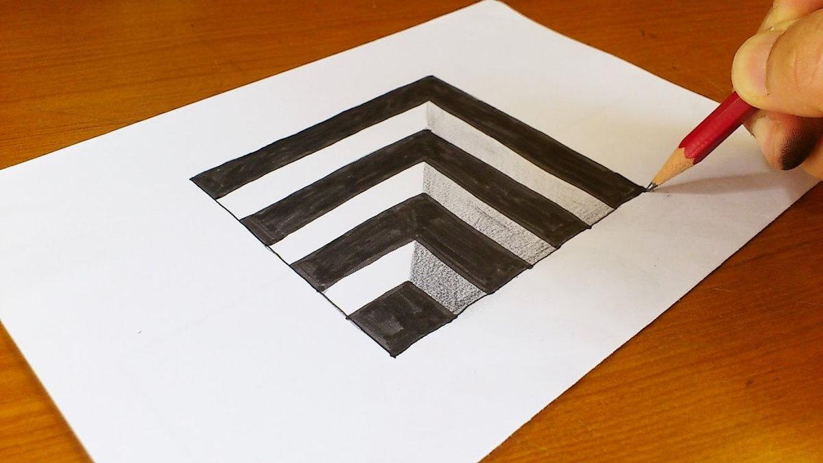 Слесарь, объемные картинки на бумаге карандашом для начинающих