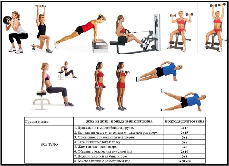 Программа На Тренажерах Чтобы Похудеть. Упражнения для похудения в тренажерном зале для женщин и мужчин - программа тренировок с видео