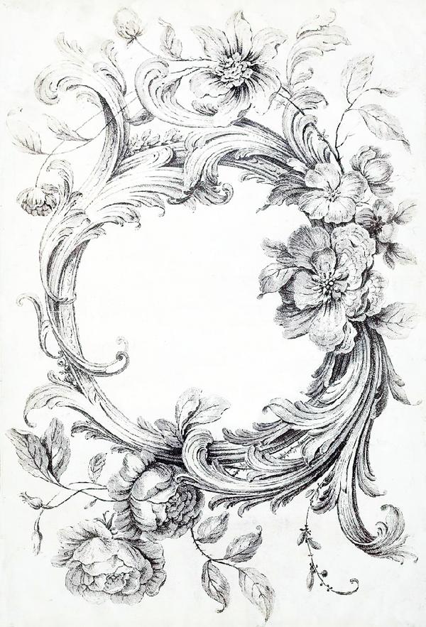 Картинки с черно-белыми цветами для декупажа