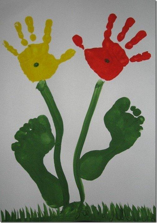 Открытки рождению, открытка к 8 марта ладошками