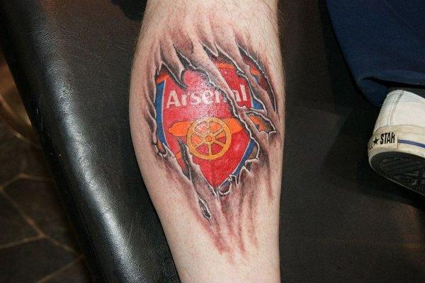 Татуировки футбольных фанатов арсенал лондон