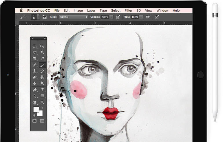 Рисунок на планшете в фотошопе, тиража
