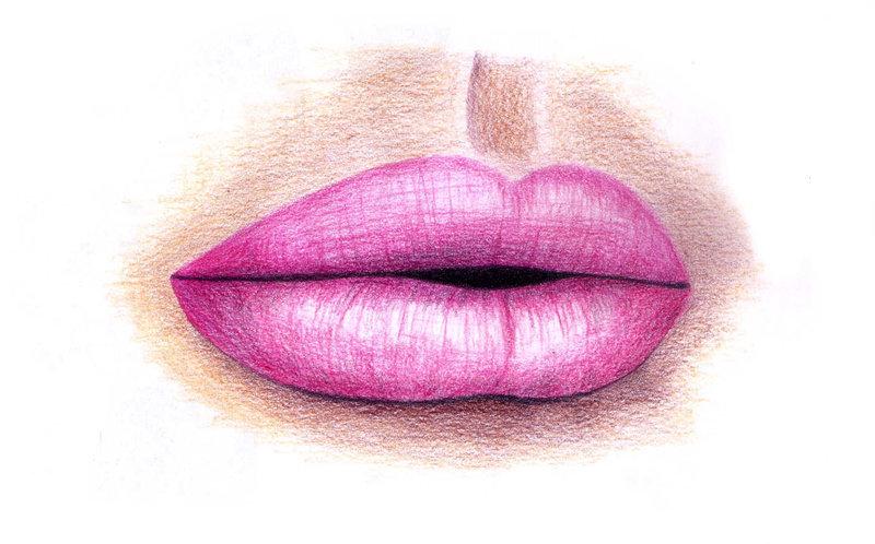 Картинки женских губ нарисованные