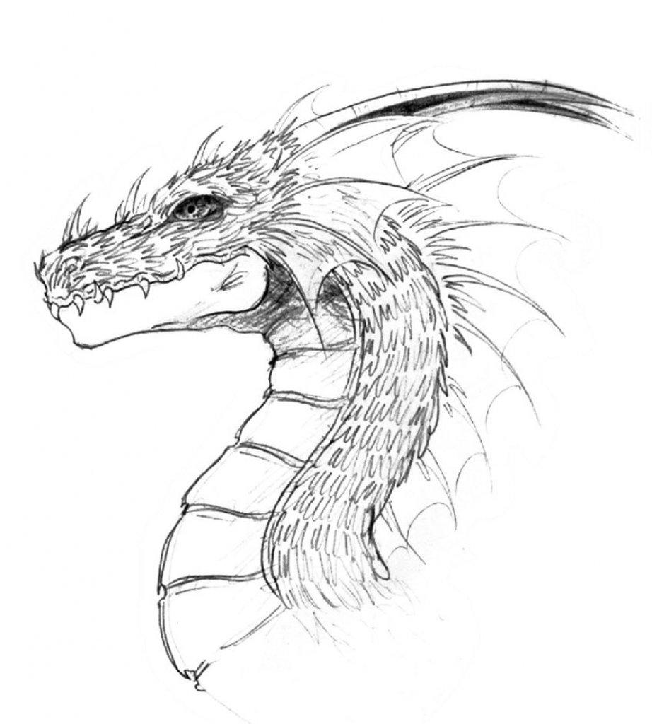 Черный дракон картинки для срисовки