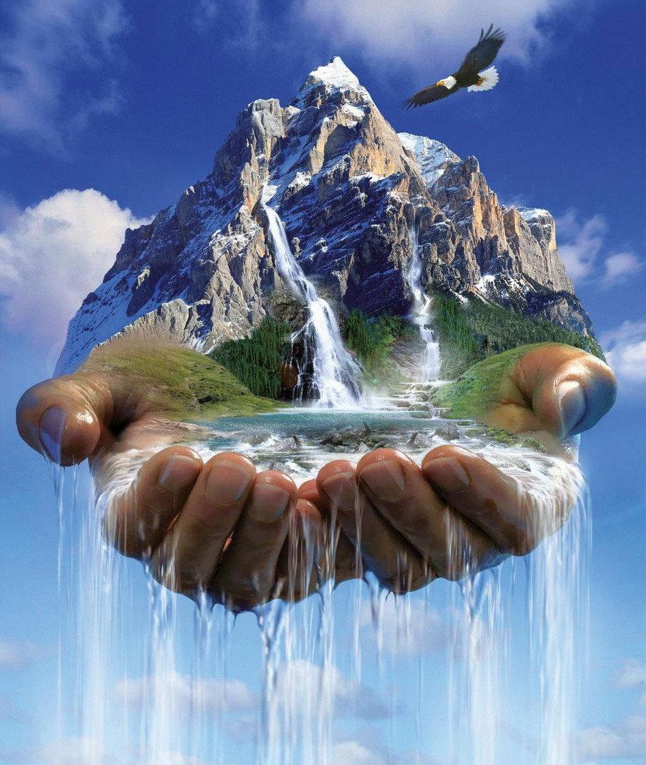 Картинки на тему воды в природе, надписью разговорное