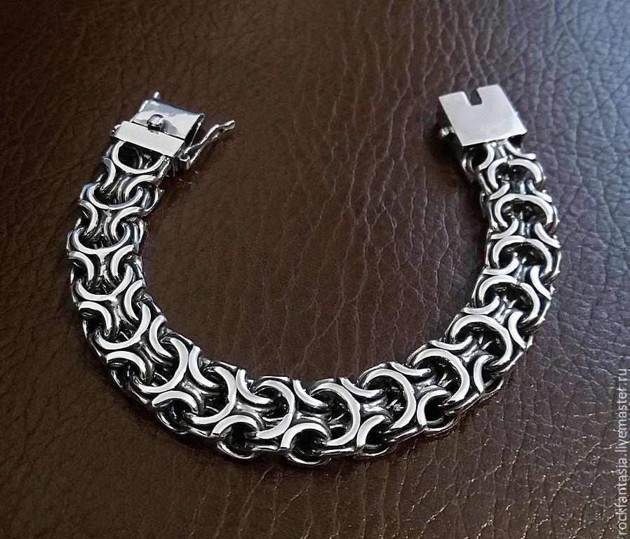 серебряный мужской браслет фото