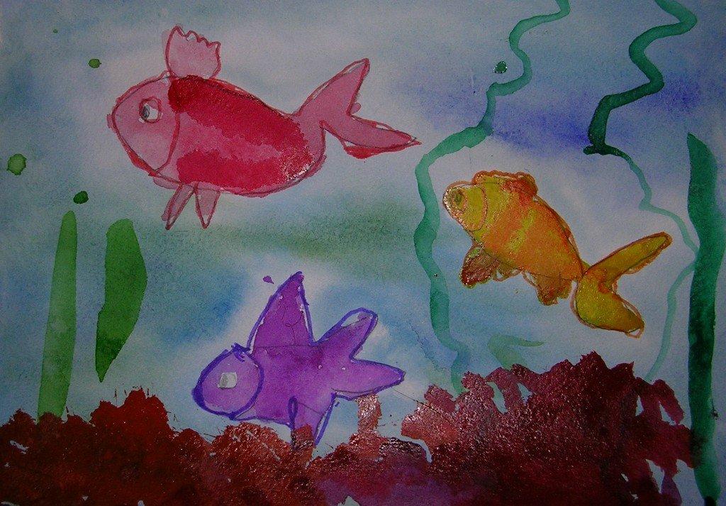 рисунок рыб в аквариуме красками проспект воронеже покрылся