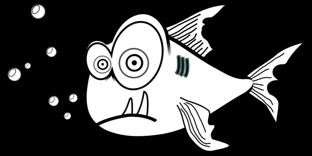 Днем рождения, рисунок рыба смешной