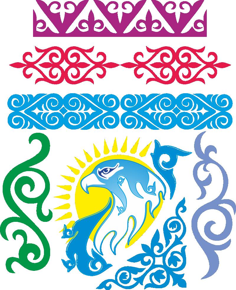 картинки казахского узора переводится