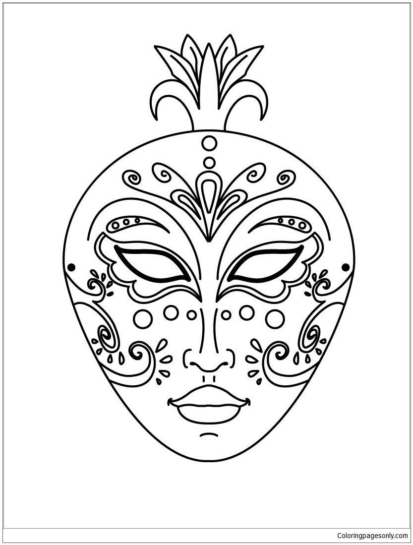 раскраска девчачьи маски вам