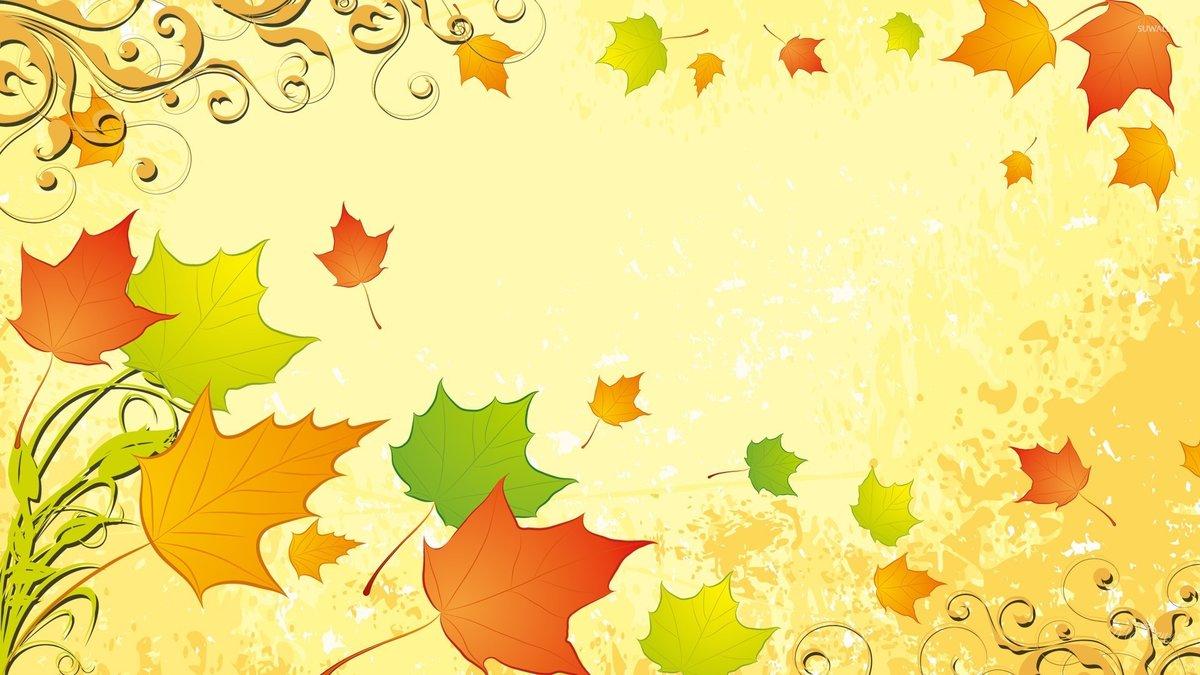 Красивые осенние фоны для открыток