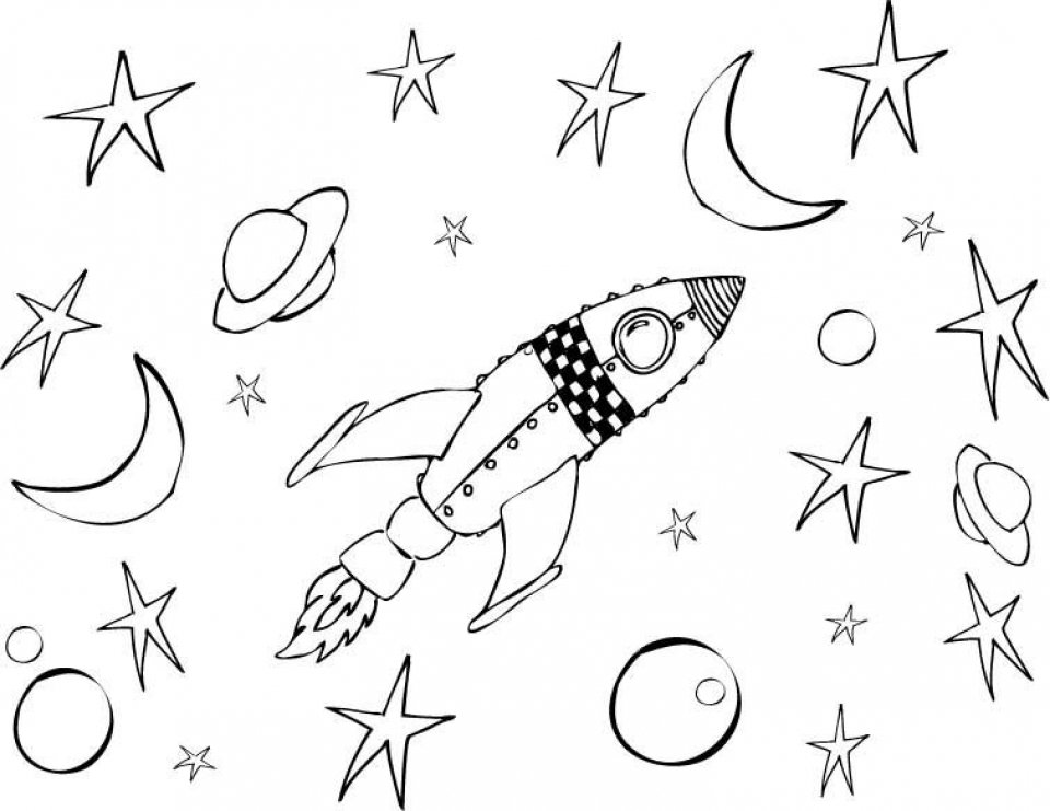 space rocket coloring pages - 960×741