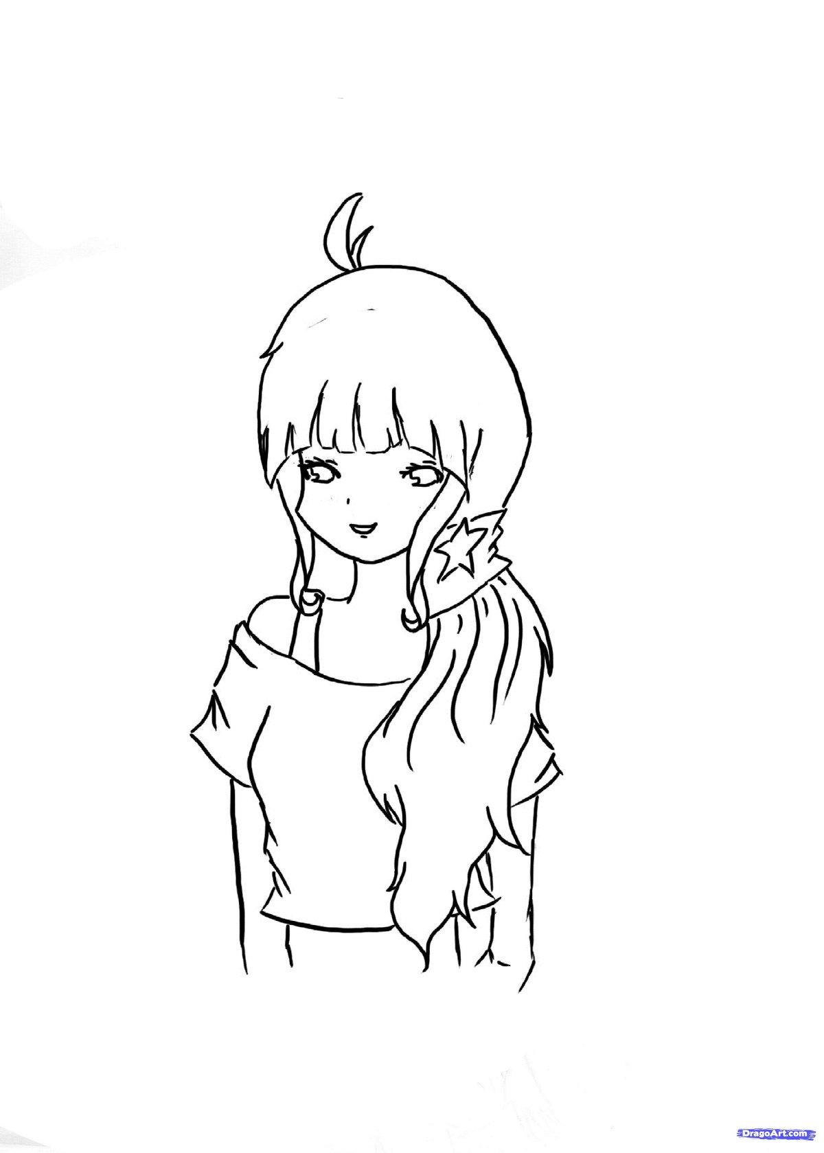 Легкие рисунки карандашом для начинающих прикольные девочки, картинки технику