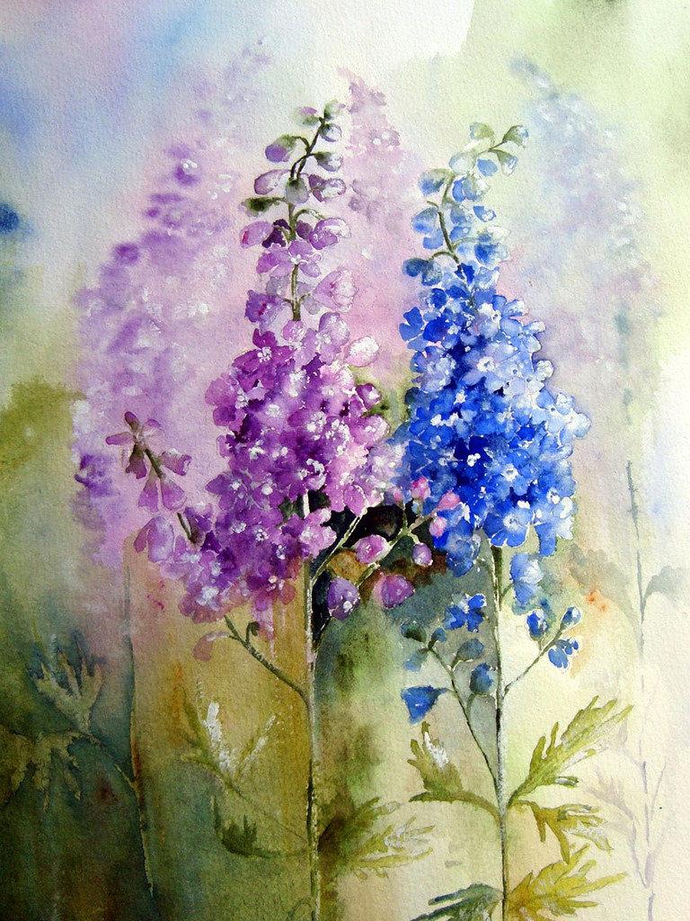 Для, акварельные картинки цветы