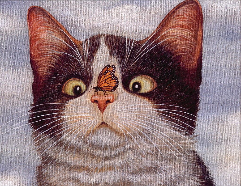 Картинки где нарисован котик