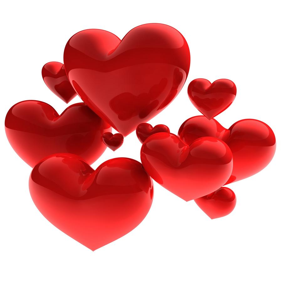 Картинка сердечки без фона