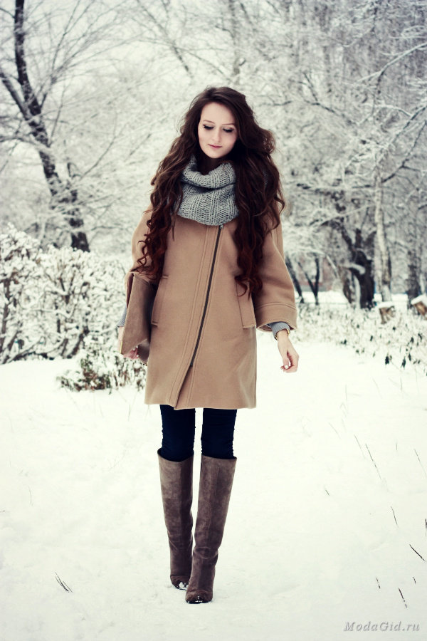Фото зимние образы верхней одежды
