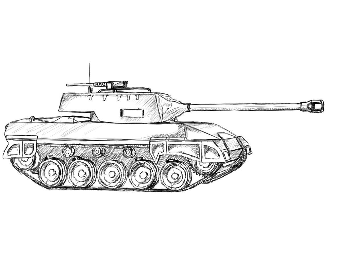 качестве такую картинки для рисования танк галич активен