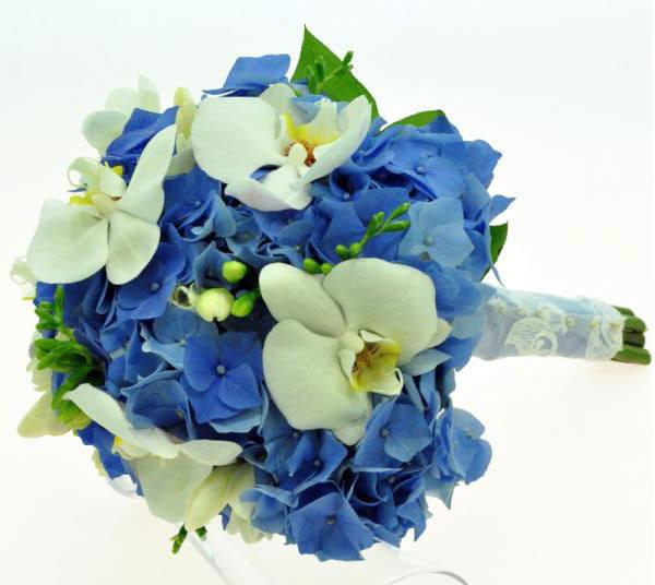 Цветов петербург, гортензия с орхидеей свадебный букет цена