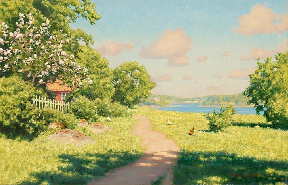 Картинки летний день в деревне, надписями