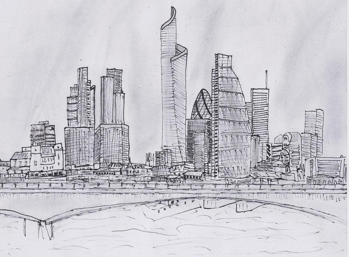 Рисунки для срисовки города будущего