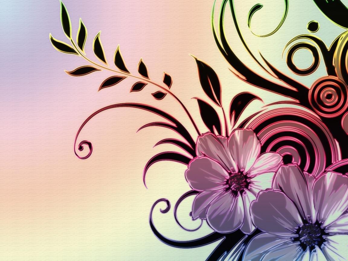 цветы фото картинки узоры селе