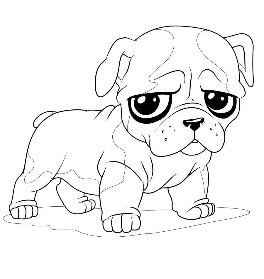 Люблю, картинки милые собачки раскраски