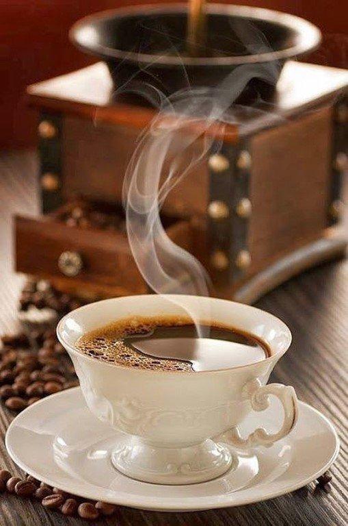 Чашечка кофе картинки гифки, открытка