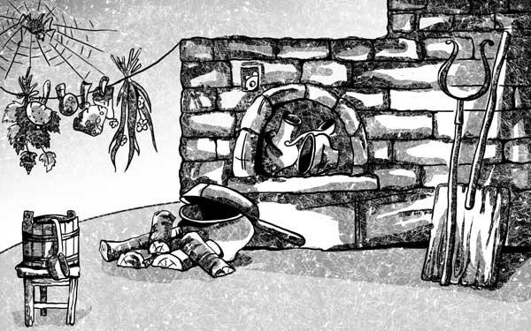 Картинки с печкой и паутиной сказочные
