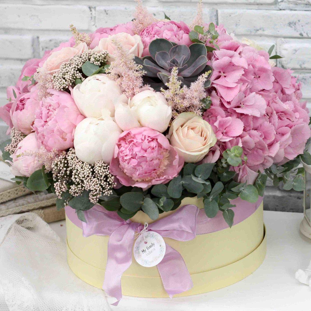 Открытки букеты цветов в коробке, днем рождения музыкальные