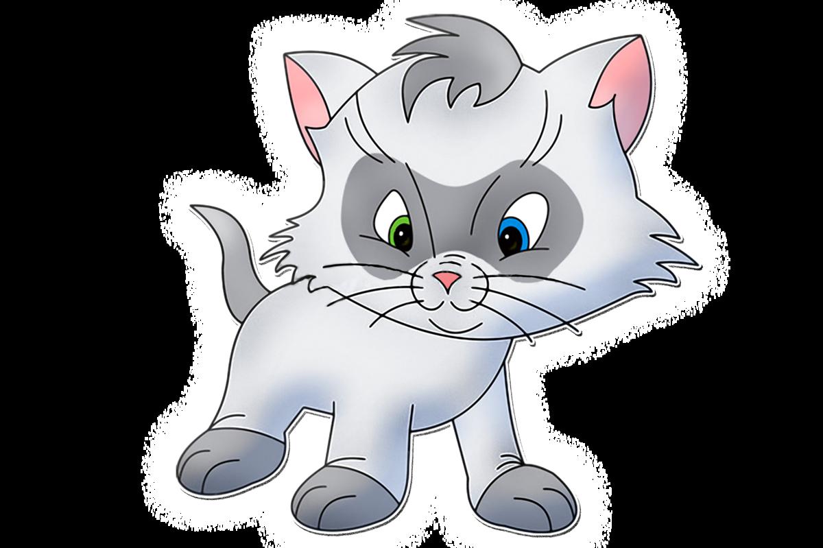 Кофейной, рисунок котята для детей