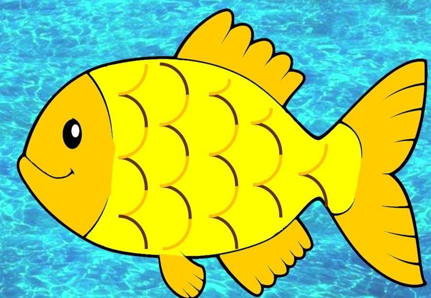 Картинки рыбка для детей рисованные
