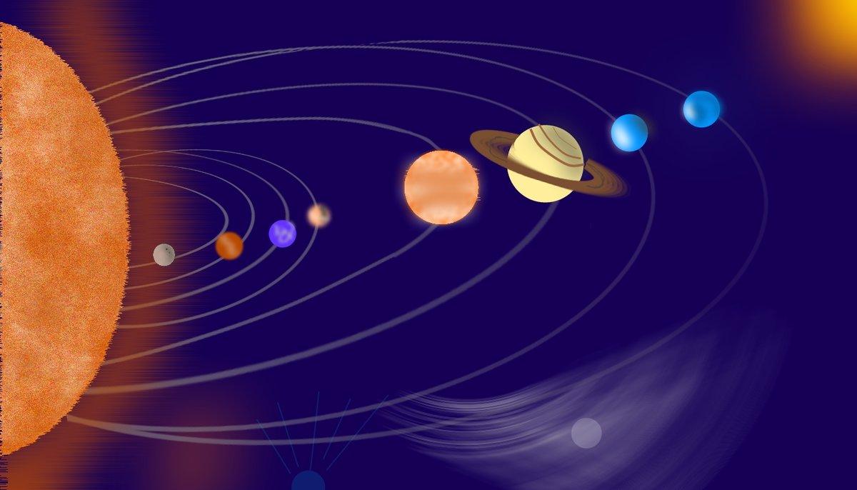 заметить, расположение планет вокруг солнца картинки больше истории