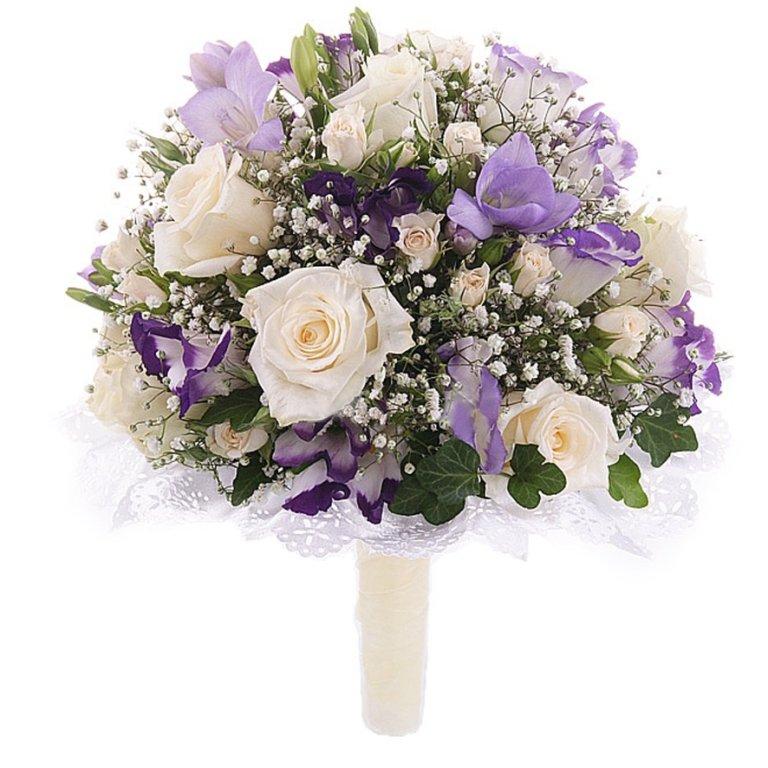 Свадебный букет невесты купить в москве недорого, букет цветов розы