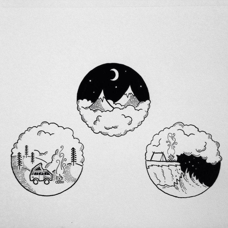 Черно-белые картинки тамблер