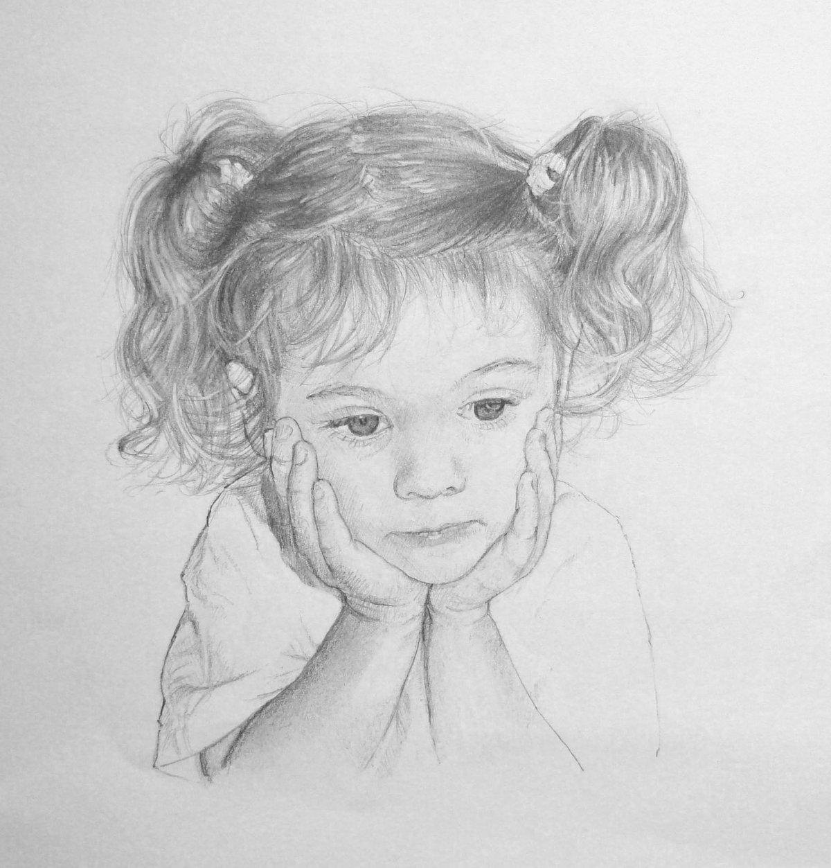 Картинки с ребенком нарисованные карандашом, ребенком новым