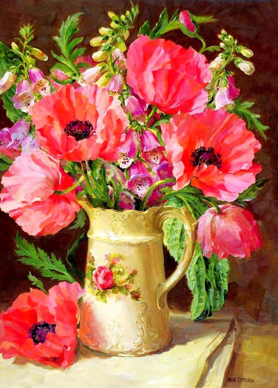 Цветы в живописи картинки