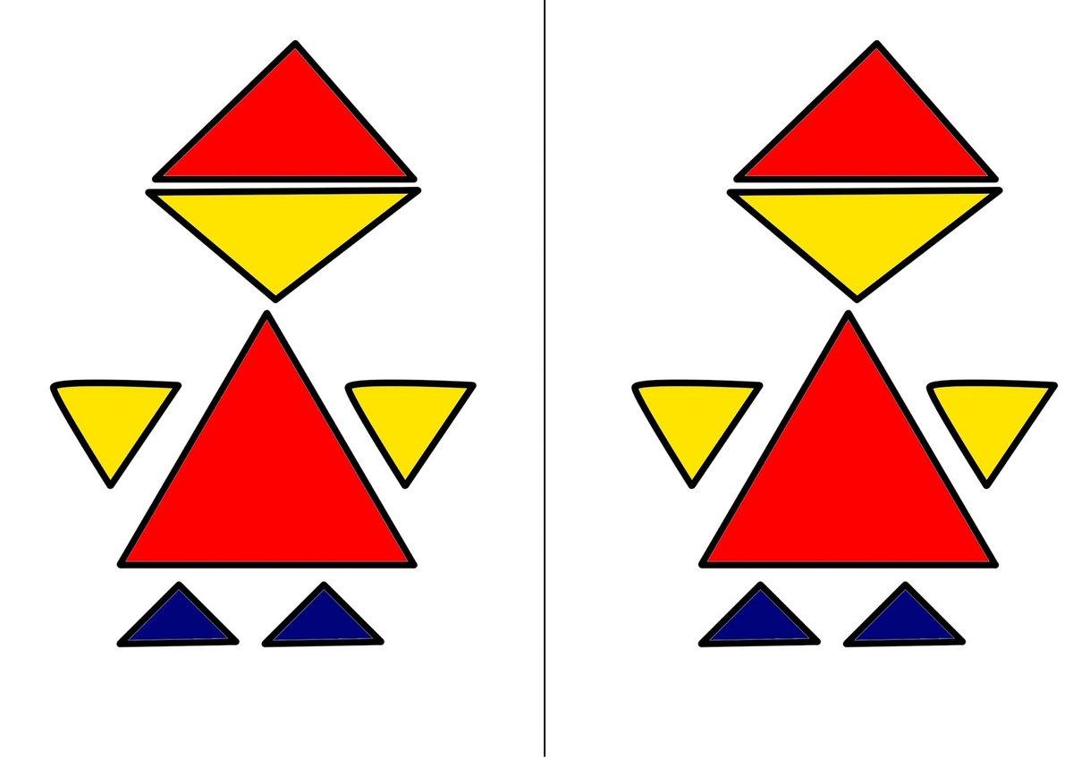 картинки из треугольников кругов и квадратов для школы римский три