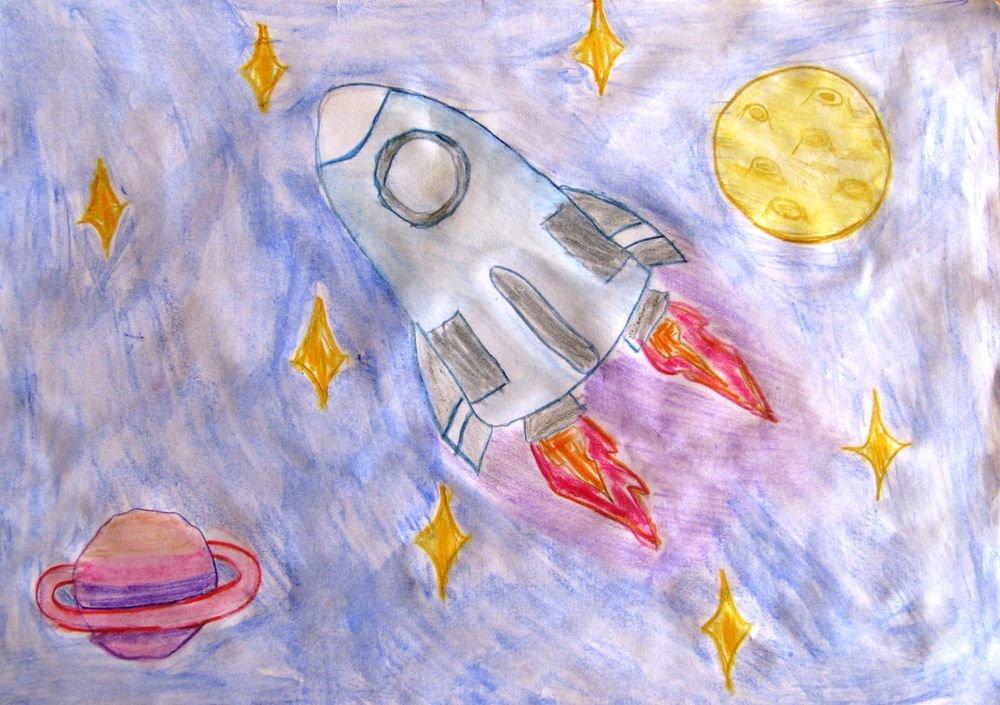 степных картинки про космос нарисовать можно