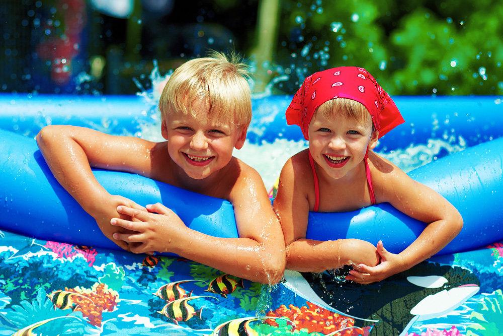 Открытки, картинки лето с детьми
