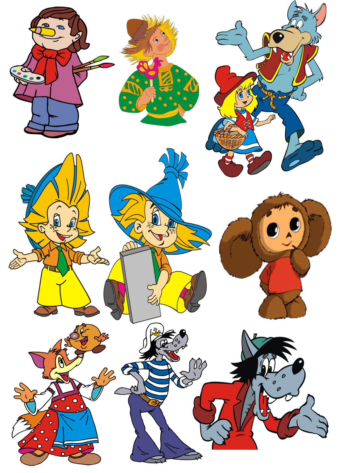 Персонажи из мультфильмов сказок картинки