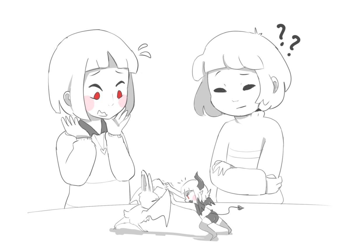 Прикольные девочки картинки для срисовки андертейл