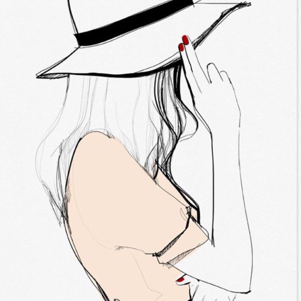 Приятного чаепития, прикольные картинки для срисовки девочки в шапке