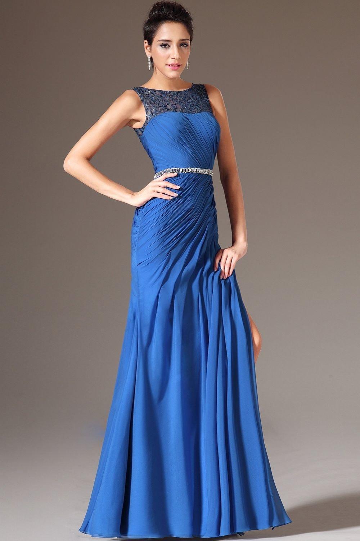 Картинки синие платья вечерние