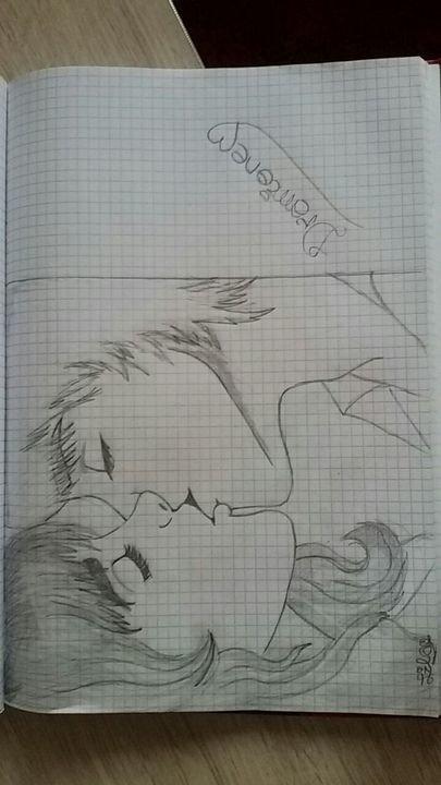 Рисунок для любимой девушки ручкой