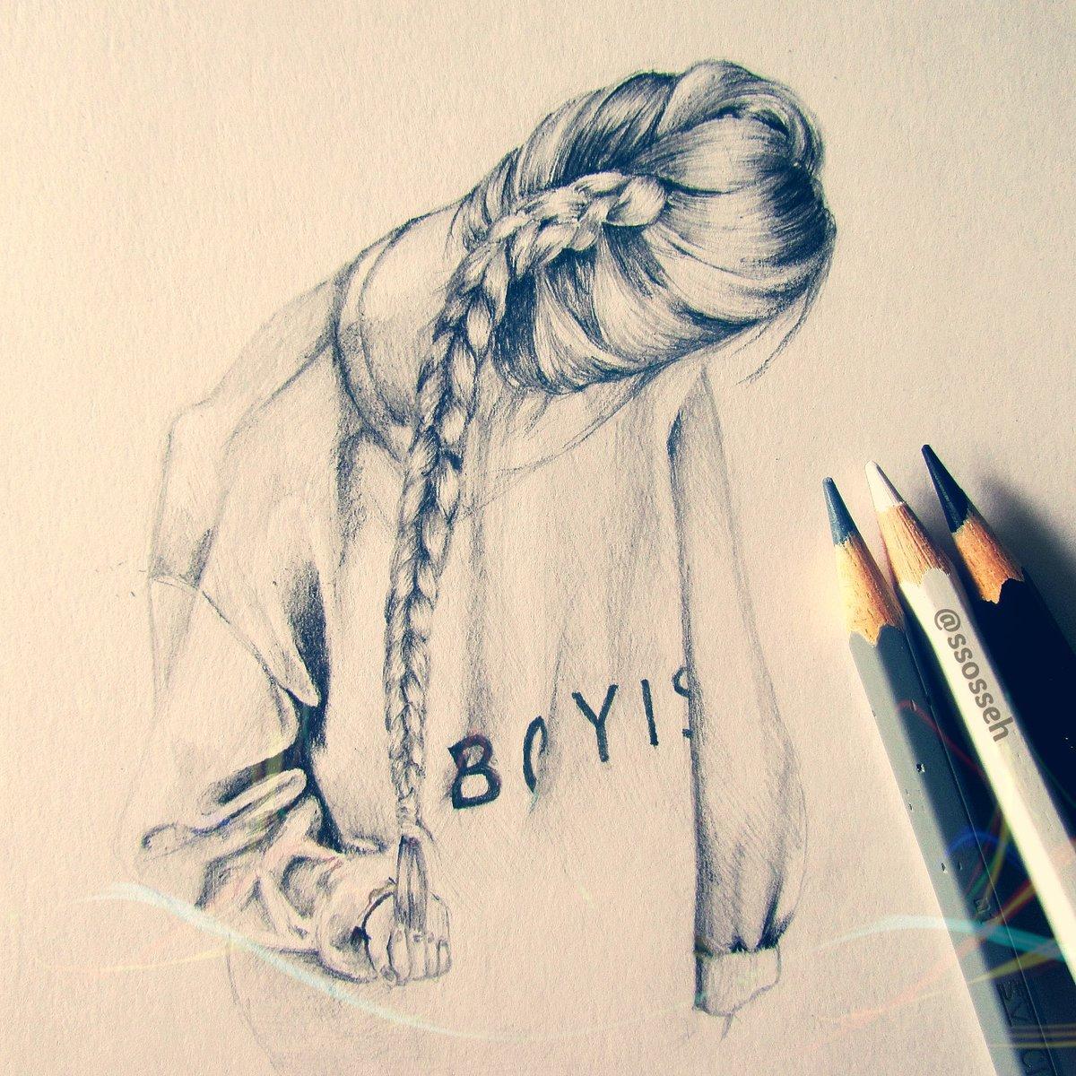 День картинка, классные картинки карандашом девушек