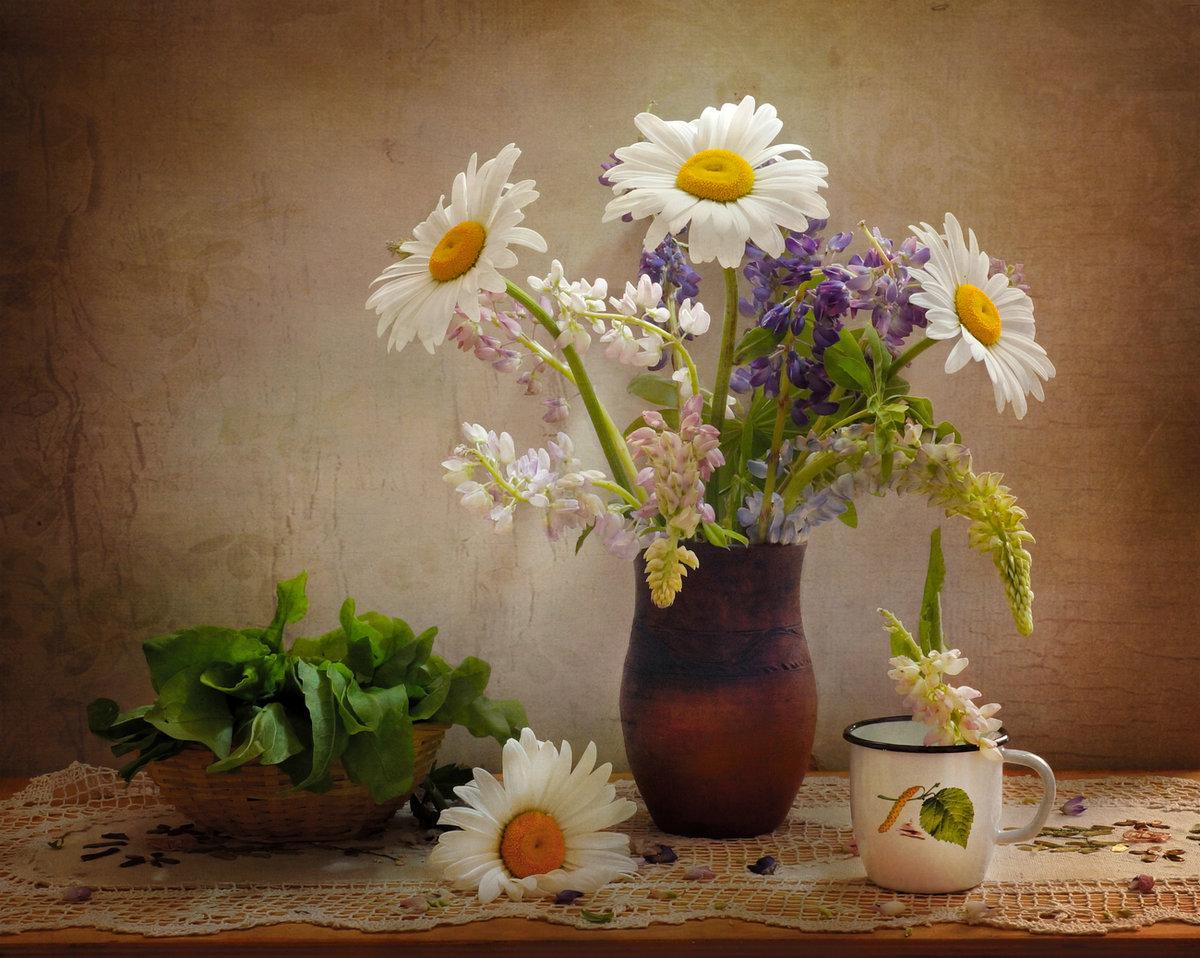 картинки с цветами ромашки в вазе сравнительно новая